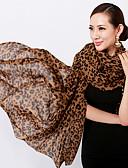 abordables Bufandas de Raso Chics-Mujer Raso Rectángulo - Básico Leopardo