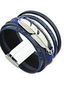 preiswerte Krawatten & Fliegen-Damen Lederarmbänder - Freunde Armbänder Silber / Grau / Blau Für Normal