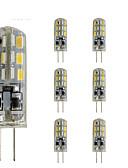 זול טישרטים לגופיות לגברים-10pcs 1.5W 300lm G4 נורות שני פינים לד צינור 24 LED חרוזים SMD 3014 Spottivalo דקורטיבי ירוק כחול אדום 12V
