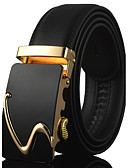 cheap Men's Belt-Men's Luxury / Work / Casual Leather / Alloy Waist Belt - Solid Colored Stylish