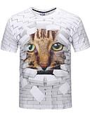 preiswerte Herren T-Shirts & Tank Tops-Herrn Party Klub T-shirt, Rundhalsausschnitt Druck
