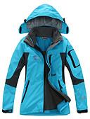 preiswerte T-Shirt-Damen Wanderjacke Außen Winter Wasserdicht warm halten Rasche Trocknung Windundurchlässig tragbar Atmungsaktiv Abnehmbare Kappe Vlies
