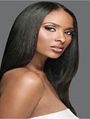 preiswerte Hochzeit Schals-Remi-Haar Vollspitze Perücke Glatt Yaki 130% 150% 180% Dichte 100 % von Hand geknüpft Afro-amerikanische Perücke Natürlicher Haaransatz
