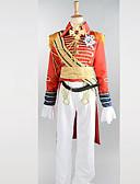 hesapli Gelin Şalları-Cosplay Kostümleri Parti Kostümleri Asker / Savaşçı Kariyer Kostümler Festival / Tatil Cadılar Bayramı Kostümleri Kırmızı Kırk YamaPalto