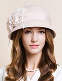 זול טישרט-צמר / שיפון / עור מפגשים / כובעים / ביגוד לראש עם פרחוני 1pc חתונה / אירוע מיוחד / קזו'אל כיסוי ראש