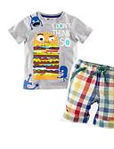ieftine Bluze Damă-Copil Băieți Mată Manșon scurt Set Îmbrăcăminte