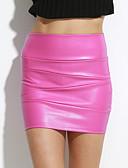 tanie Sukienki-Damskie Bodycon Spódnice - Wyjściowe Solidne kolory / Seksowny / Szczupła