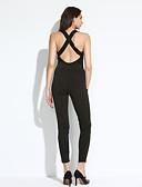 voordelige Dames jumpsuits & rompers-Dames Jumpsuit - Effen Diepe V-hals