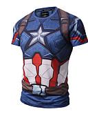 abordables Camisetas y Tops de Hombre-Hombre Activo Punk & Gótico Deportes Estampado - Algodón Camiseta, Escote Redondo