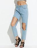 billige Mode Tilbehør-Dame Gade Jeans Bukser Ensfarvet