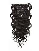 billige Aftenkjoler-Klipp På Hairextensions med menneskehår Krop Bølge Hairextensions med menneskehår Ubehandlet hår Brasiliansk hår Dame