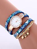 preiswerte Kleideruhr-Damen Armband-Uhr Armbanduhren für den Alltag Leder Band Modisch / Elegant Schwarz / Blau / Grau / Ein Jahr / Tianqiu 377