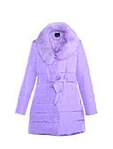 billige Mode Tilbehør-Dame Afslappet Dynejakke - Ensfarvet
