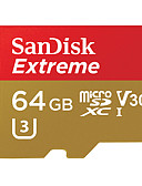 halpa Naisten kaksiosaiset asut-SanDisk 64Gt Micro SD-kortti TF-kortti muistikortti UHS-I U3 Class10 V30 Extreme