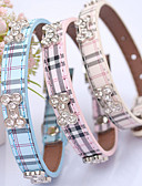 cheap Wedding Dresses-Cat Dog Collar Adjustable / Retractable Hands free Plaid/Check PU Leather Beige Blue Pink
