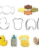 abordables Camisetas y Tops de Hombre-Herramientas para hornear Acero inoxidable Manualidades Pastel / Galleta / Tarta forma de dibujos animados / Animal Molde para hornear 5pcs