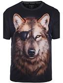 billige T-skjorter og singleter til herrer-Rund hals Store størrelser T-skjorte Trykt mønster Punk & Gotisk Bohem Klubb Herre