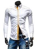 זול בלייזרים וחליפות לגברים-אחיד כותנה, חולצה - בגדי ריקוד גברים