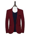 cheap Men's Blazers & Suits-Men's Street chic Slim Blazer-Solid Colored Notch Lapel / Long Sleeve