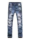 ieftine Pantaloni Bărbați si Pantaloni Scurți-Bărbați Bumbac Zvelt Blugi Pantaloni Mată
