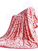 halpa Printtimekot-Coral Fleece, Printed Polka Dot Puuvilla / polyesteri peitot