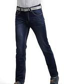 abordables Pantalones y Shorts de Hombre-Hombre Tallas Grandes Corte Recto Vaqueros Pantalones - Un Color