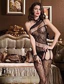 preiswerte Modische Unterwäsche-Damen Übergrössen Super Sexy Teddy Nachtwäsche - Gitter Solide