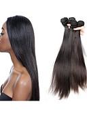 billige Slips og sløyfer-Ubehandlet Remyfletninger av menneskehår Rett / Klassisk Brasiliansk hår 500 g Over 1 år Daglig