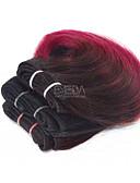 billige Vintagedronning-3 pakker Brasiliansk hår Krop Bølge 8A Ekte hår Menneskehår Vevet Nyanse Hårvever med menneskehår Hairextensions med menneskehår