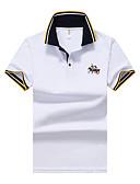tanie Męskie koszulki polo-Polo Aktywny / Moda miejska Bawełna Sport Kołnierzyk koszuli Solidne kolory / Krótki rękaw / Plaża