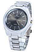 رخيصةأون ساعات موضة-JUBAOLI للرجال ساعة المعصم كوارتز عرض ساخن ستانلس ستيل فرقة مماثل قديم موضة الأبيض / أزرق - أبيض أسود أزرق
