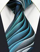 cheap Men's Ties & Bow Ties-Men's Cute Party Work Rayon Necktie - Geometric Color Block Jacquard Basic