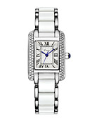 cheap Quartz Watches-Women's Wrist Watch Quartz 30 m Hot Sale Alloy Band Analog Luxury Fashion Elegant Blue / Silver - White Blue Rose Gold