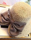 abordables Sombreros de mujer-Mujer Sombrero de Paja Sombrero para el sol - Vacaciones Un Color