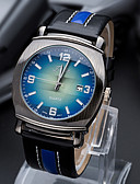 baratos Relógios da Moda-Homens Relógio de Pulso Quartzo Venda imperdível PU Banda Analógico Amuleto Casual Fashion Preta / Azul / Marrom - Marron Verde Azul