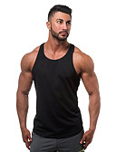 cheap Men's Tees & Tank Tops-Men's Sports / Beach Active Cotton Tank Top - Solid Colored Basic / Sleeveless