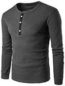 baratos Camisetas Femininas-Homens Camiseta - Esportes Sólido Decote Redondo