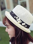 abordables Sombreros de mujer-Mujer Sombrero Playero Sombrero de Paja Sombrero para el sol - Bonito Un Color