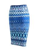 abordables Faldas para Mujer-Mujer Chic de Calle Trabajo Noche Algodón Lápices Faldas - Estampado