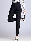 halpa Naisten housut-Naisten Pluskoko Haaremi / Business / Chinos housut Housut Yhtenäinen Korkea vyötärö