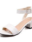 cheap Women's Lingerie-Women's Sandals Spring Summer Fall PU Office & Career Dress Party & Evening Chunky Heel Block Heel White Green Blushing Pink 1in-1 3/4in