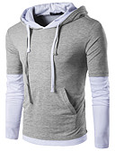 baratos Camisetas & Regatas Masculinas-Homens Camiseta - Esportes Estampa Colorida Com Capuz