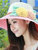 abordables Sombreros de mujer-Mujer Sombrero para el sol - Vacaciones Retazos / Verano
