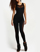 cheap Women's Pants-Women's Sporty Jumpsuit - Solid Colored, Backless / Skinny / Sporty Look