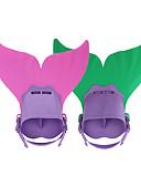 hesapli Moda İç Giyimler-Dalış Fins / Yüzme Paletleri Deniz Kızı, Ayarlanabilir Ölçü, Kısa Bıçak Yüzme, Dalış, Şnorkelcilik TPR, PP - için Çocuklar Fuşya / Yeşil / Açık Mavi