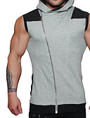 cheap Men's Tees & Tank Tops-Men's Sports Active Cotton T-shirt - Solid Colored Hooded