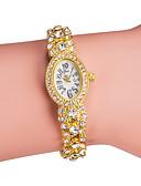 baratos Quartz-Mulheres Bracele Relógio Japanês Quartzo imitação de diamante Lega Banda Analógico Brilhante Fashion Elegante Prata / Dourada - Dourado Prata