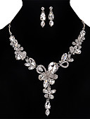 cheap Mother of the Bride Dresses-Women's Crystal Jewelry Set - Crystal, Rhinestone Flower Personalized, Vintage, Euramerican Include Necklace / Earrings Gold / Silver / Gray For Wedding Party Special Occasion