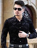cheap Men's Shirts-Men's Cotton Shirt - Jacquard Classic Collar