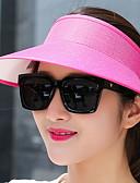 olcso Női kalapok-Női Egyszínű Len Szalmakalap Nyár Tengerészkék Bor Khakizöld